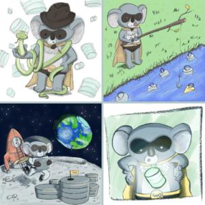 Les aventures du koala masqué par Baptiste